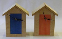 Three Beach Hut Clocks
